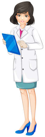 Illustration of a female doctor on a white background Vector