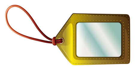 nametag: Illustration of an empty tag on a white background Illustration