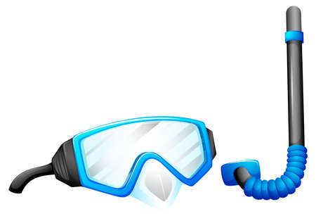 mouthpiece: Illustration of the snorkeling devices on a white background Illustration