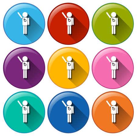 planificacion familiar: Ilustraci�n de los iconos de planificaci�n familiar sobre un fondo blanco
