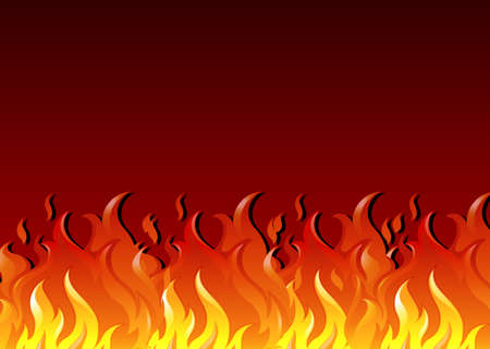 gaseous: Illustration of a hot fire