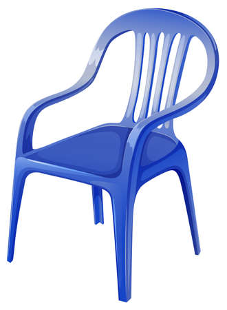 Illustration of a blue chair on a white background