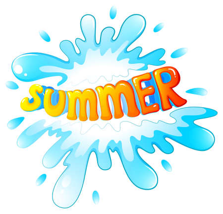 atmospheric phenomena: Illustration of a summer artwork on a white background