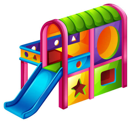 playroom: Illustration of a playground slide on a white background Illustration