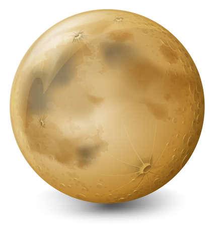 Illustration of a planet on a white background