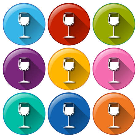 occassion: Illustration of the wine glass icons on a white background