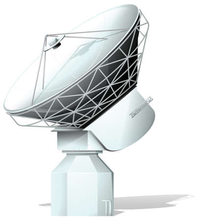 artificial satellite: Illustration of a spacelight on a white background Illustration