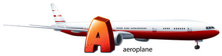 cruising: Illustration of a letter A for aeroplane on a white background Illustration