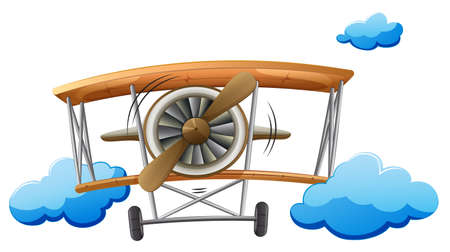 Illustration of a vintage propeller on a white background