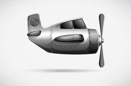 Illustration of a grey propeller on a white background