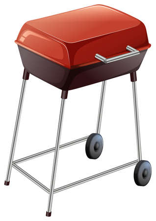 gas barbecue: Illustration of a grilling device on a white background Illustration