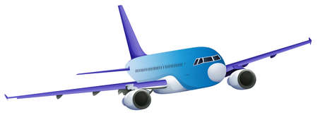 Illustration of a blue plane on a white background Vector