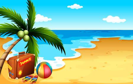Illustration d'un été à la plage Vecteurs