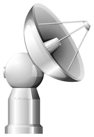 artificial satellite: Illustration of a satellite on a white background Illustration