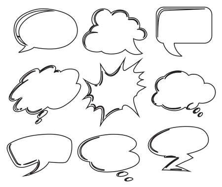 Illustration der verschiedenen Beschriftungen auf weißem Hintergrund Standard-Bild - 31590083