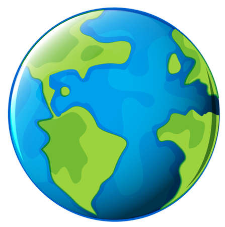 Illustration of the planet Earth on a white background