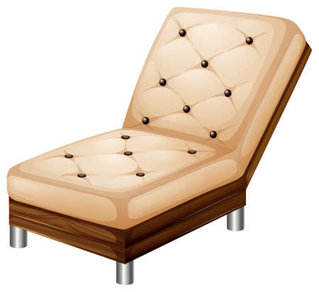 Illustration of a relaxing furniture on a white background Illustration