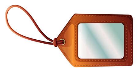 keyholder: Illustration of an empty tag on a white background  Illustration