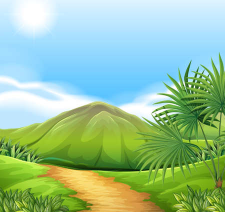 interactions: Illustration of a green environment Illustration