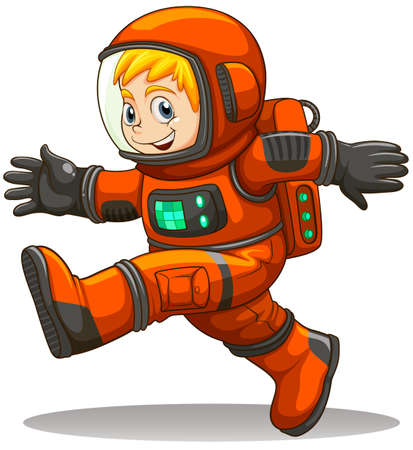 Illustration of an astronaut on a white background  Vector