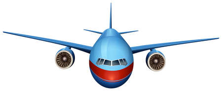 jets: Illustration of a front view of a plane on a white background