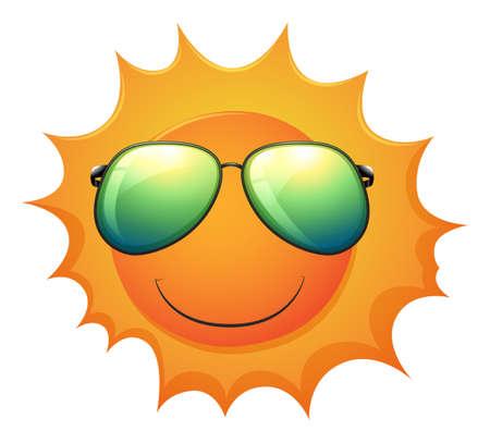 milkyway: Illustratie van een zon op een witte achtergrond
