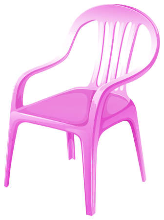 armrests: Illustration of a pink chair furniture on a white background