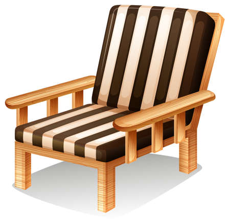 ergonomie: Illustration eines Relaxsessel M�bel auf einem wei�en Hintergrund