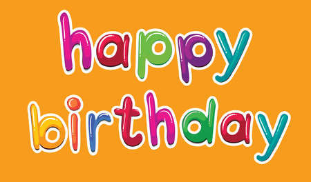 Illustration of a happy birthday template Vectores