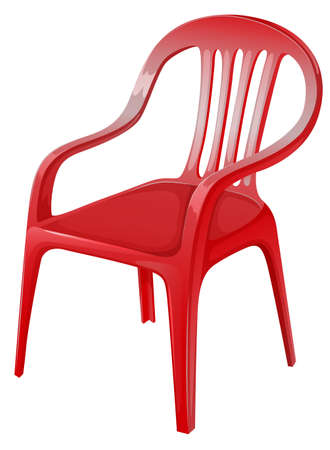 Illustration of a red chair on a white background
