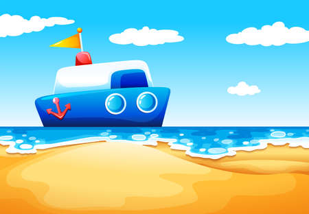 fueled: Illustration of a sea with a boat