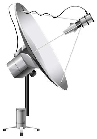 intentionally: Illustration of a satellite on a white background