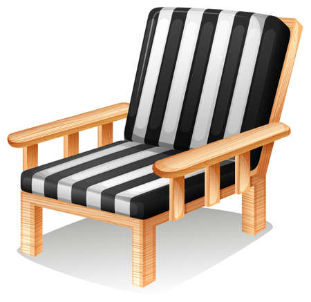 occupant: Illustration of a relaxing chair on a white background  Illustration