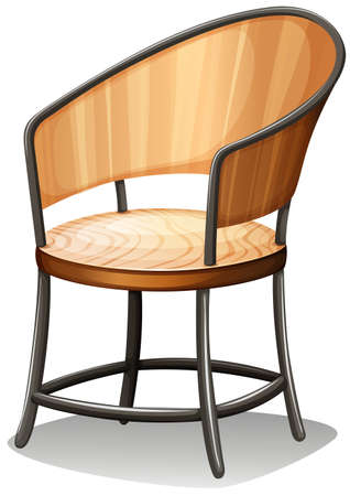 armrests: Illustration of a chair furniture on a white background