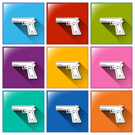 targetting: Illustration of the icon with guns on a white background   Illustration