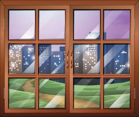 Illustration of a window Vector