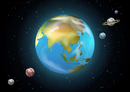 milkyway: Illustration of the planets of the Solar System Illustration