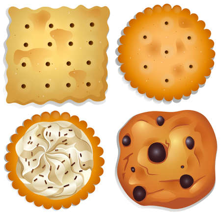 delectable: Illustration of the delectable cookies on a white background