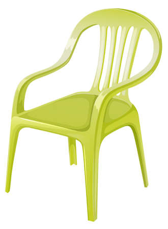 armrests: Illustration of a plastic chair furniture on a white background
