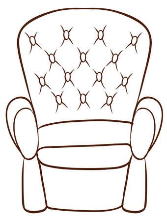 ergonomie: Darstellung eines einfachen Skizze eines M�bel auf einem wei�en Hintergrund Illustration