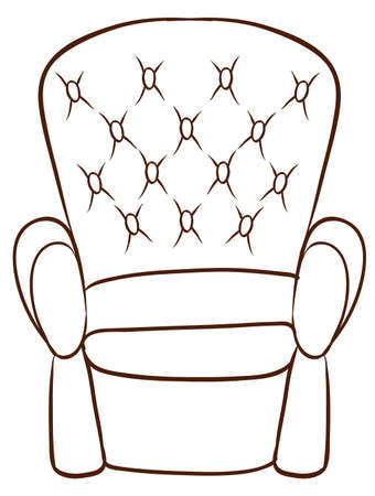 occupant: Illustration of a simple sketch of a furniture on a white background
