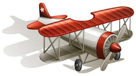 jetplane: Illustration of a vintage bumpy ride on a white background