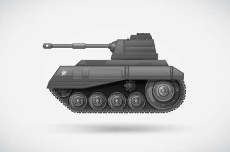 armoured: Illustration of a military armoured tank