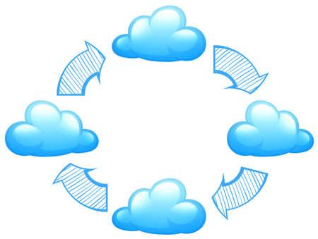 Illustration of a weather phenomena on a white background