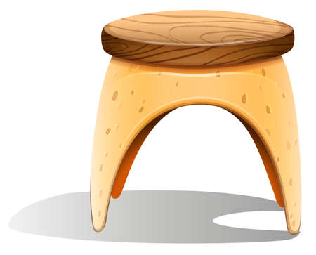 round chairs: Illustration of a chair furniture on a white background