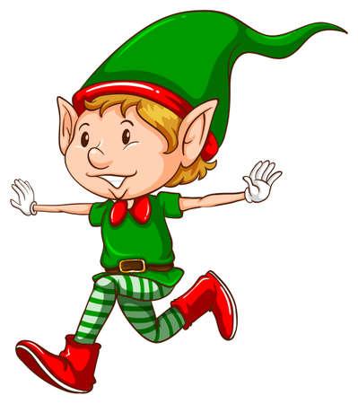 Illustration of a close up elf Illustration