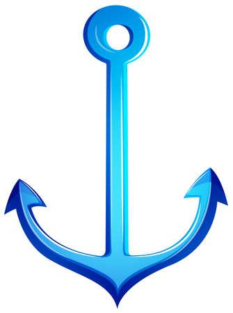 sharpen: Illustration of a blue anchor on a white background   Illustration