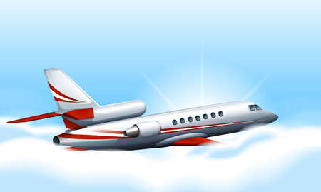 jets: Illustration of a plane in the sky