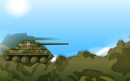 frontline: Illustration of a military tank Illustration