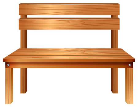 chair wooden: Illustration of a smooth wooden furniture on a white background Illustration